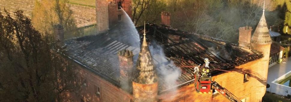 Incendie de château à Bouloc
