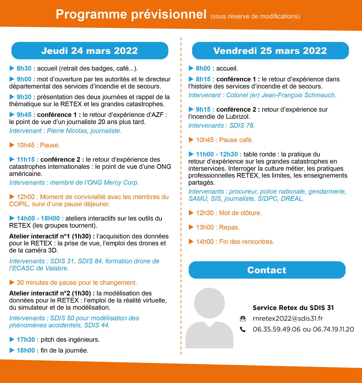 Programme au 15 septembre 2021