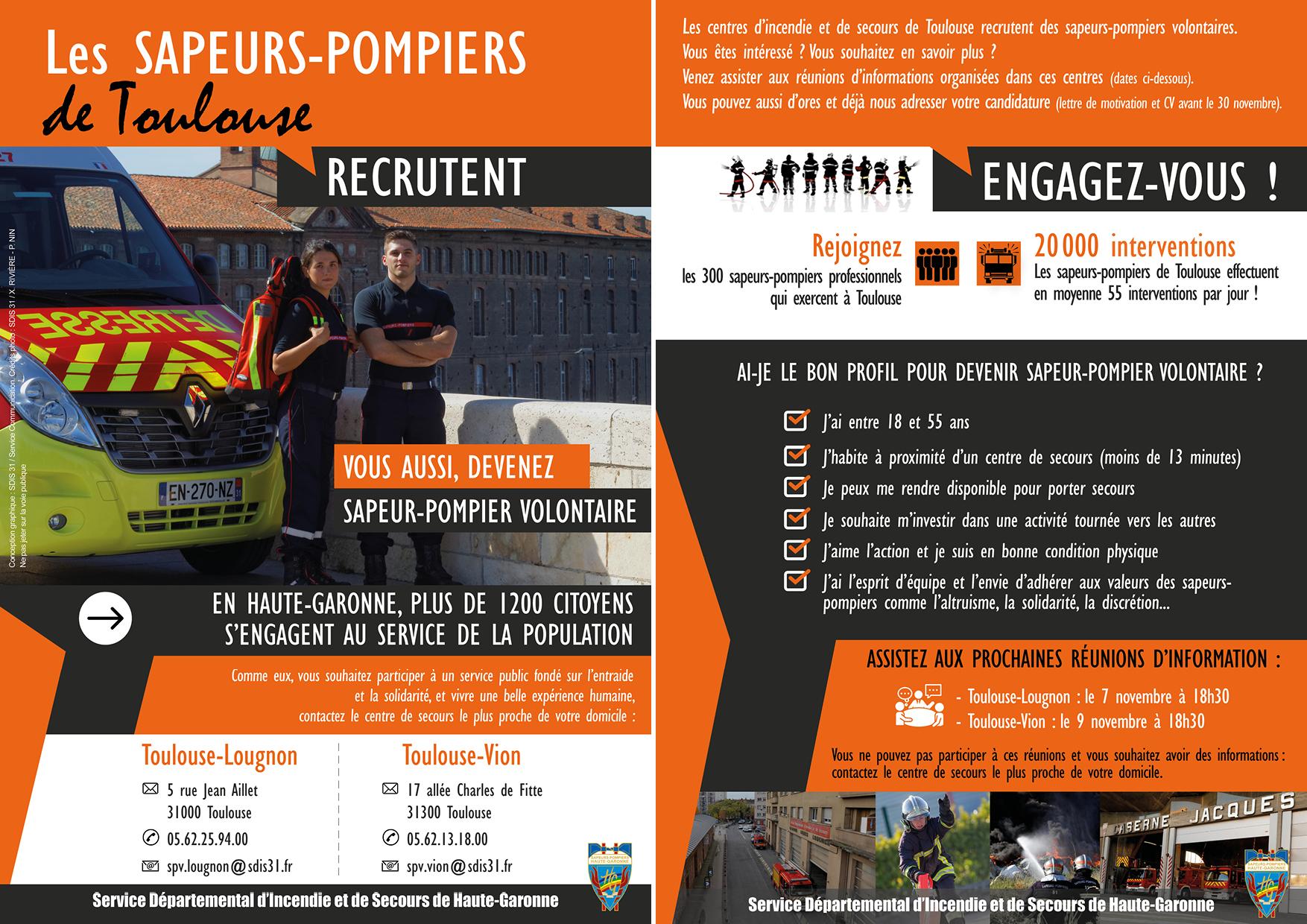 Recrutement De Volontaires à Toulouse Sdis 31